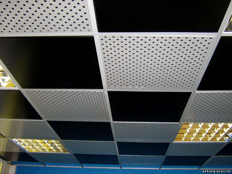 Metallic ceiling tiles